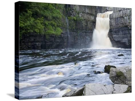 High Force on the River Tees Near the Village of Middleton-In-Teesdale, County Durham, England, UK-Ruth Tomlinson-Stretched Canvas Print