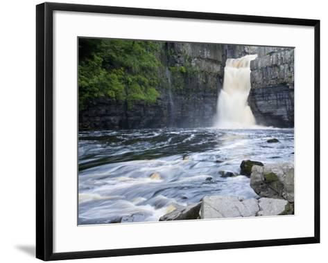 High Force on the River Tees Near the Village of Middleton-In-Teesdale, County Durham, England, UK-Ruth Tomlinson-Framed Art Print