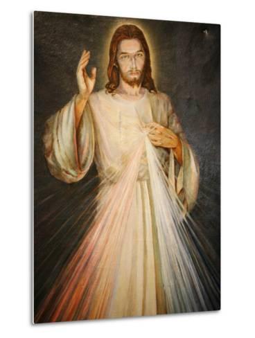 Merciful Christ, Paris, France, Europe-Godong-Metal Print