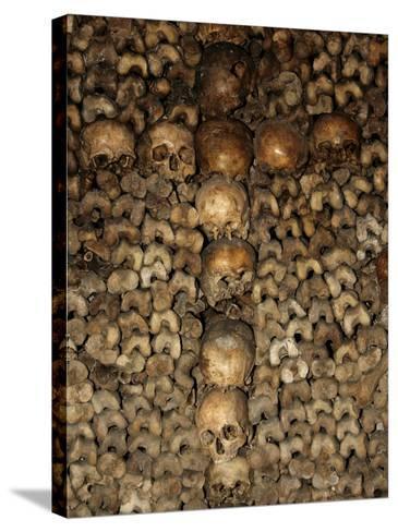 Paris Catacombs, Paris, France, Europe-Godong-Stretched Canvas Print