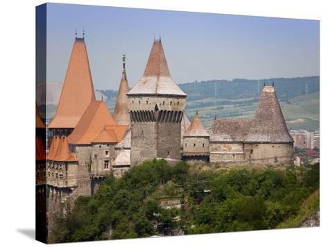 Gothic Carvin Castle, Hunedoara, Romania, Europe-Marco Cristofori-Stretched Canvas Print