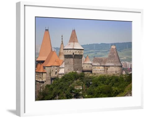 Gothic Carvin Castle, Hunedoara, Romania, Europe-Marco Cristofori-Framed Art Print