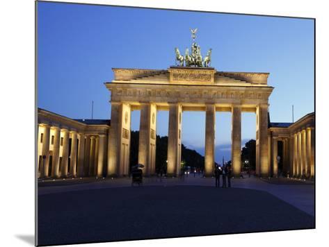 Brandenburg Gate Floodlit in the Evening, Pariser Platz, Unter Den Linden, Berlin, Germany, Europe--Mounted Photographic Print