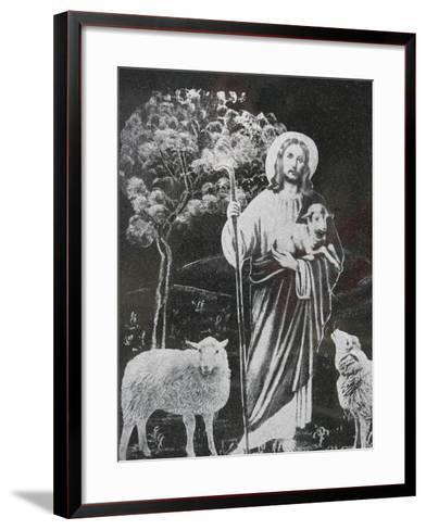 Jesus the Good Shepherd, Bossey, Haute Savoie, France, Europe-Godong-Framed Art Print