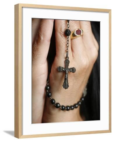 Woman Praying with Rosary-Godong-Framed Art Print
