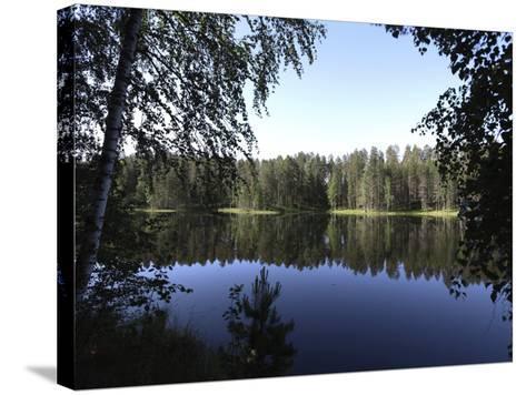 Lake Pihlajavesi, Punkaharju Nature Reserve, Savonlinna, Savonia, Finland, Scandinavia, Europe--Stretched Canvas Print