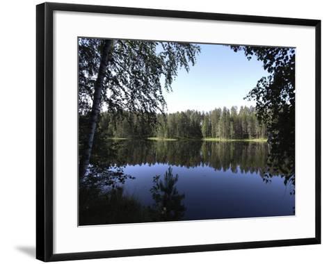 Lake Pihlajavesi, Punkaharju Nature Reserve, Savonlinna, Savonia, Finland, Scandinavia, Europe--Framed Art Print