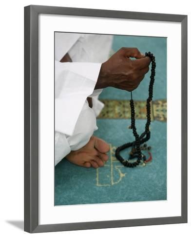 Muslim with Prayer Beads, Lyon, Rhone Alpes, France, Europe-Godong-Framed Art Print