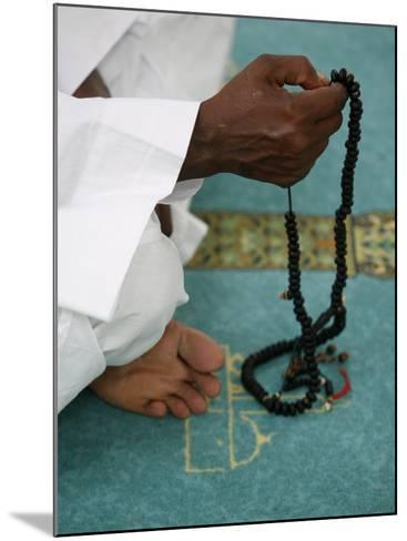 Muslim with Prayer Beads, Lyon, Rhone Alpes, France, Europe-Godong-Mounted Photographic Print