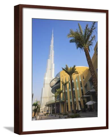 Burj Khalifa, the Tallest Tower in World at 818M, Downtown Burj Dubai, Dubai, United Arab Emirates-Amanda Hall-Framed Art Print