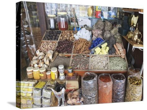 Spices for Sale in the Spice Souk, Deira, Dubai, United Arab Emirates, Middle East-Amanda Hall-Stretched Canvas Print