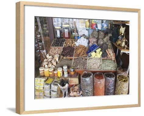 Spices for Sale in the Spice Souk, Deira, Dubai, United Arab Emirates, Middle East-Amanda Hall-Framed Art Print
