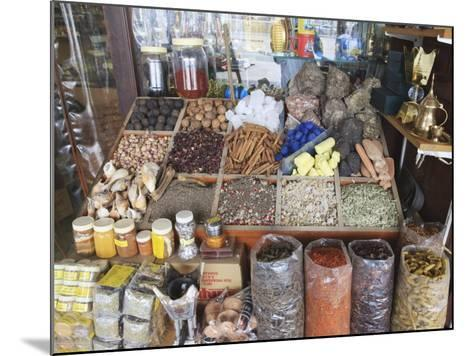 Spices for Sale in the Spice Souk, Deira, Dubai, United Arab Emirates, Middle East-Amanda Hall-Mounted Photographic Print