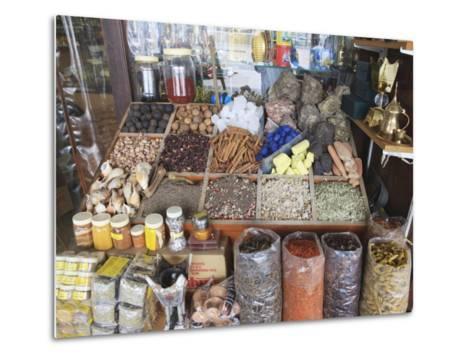 Spices for Sale in the Spice Souk, Deira, Dubai, United Arab Emirates, Middle East-Amanda Hall-Metal Print
