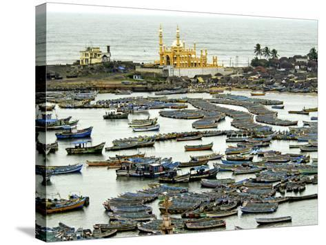 Fishing Boats in Harbour, Coastal Area of Vizhinjam, Trivandrum, Kerala, India-Balan Madhavan-Stretched Canvas Print