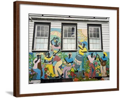 Old City, St.John's, Antigua, West Indies, Caribbean, Central America-Nico Tondini-Framed Art Print
