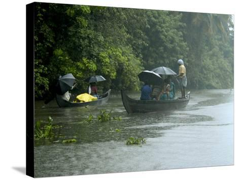Life During the Monsoon Rains, Kerala, India-Balan Madhavan-Stretched Canvas Print