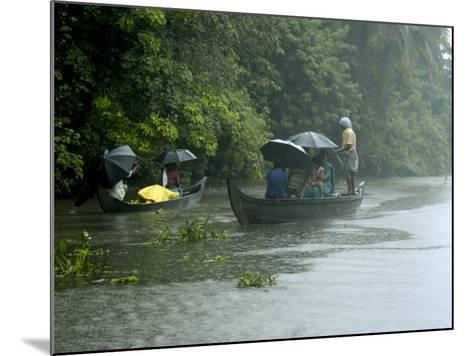 Life During the Monsoon Rains, Kerala, India-Balan Madhavan-Mounted Photographic Print