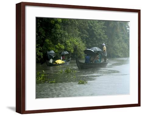 Life During the Monsoon Rains, Kerala, India-Balan Madhavan-Framed Art Print