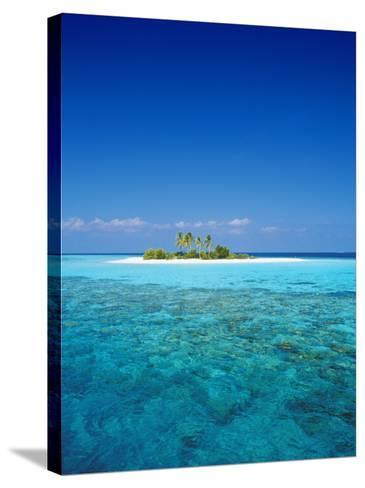 Deserted Island, Maldives, Indian Ocean-Sakis Papadopoulos-Stretched Canvas Print