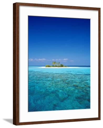 Deserted Island, Maldives, Indian Ocean-Sakis Papadopoulos-Framed Art Print