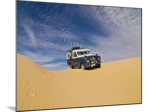 Jeep Driving Through the High Sand Dune of Western Desert, Near Siwa, Egypt, North Africa, Africa-Michael Runkel-Mounted Photographic Print