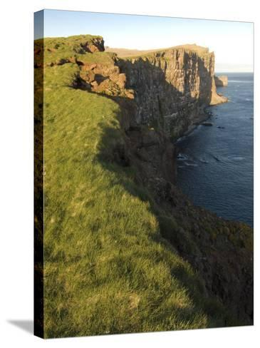 Westernmost Point in Europe, the Famous Rock Cliffs of Latrabjarg, Iceland, Polar Regions-Michael Runkel-Stretched Canvas Print