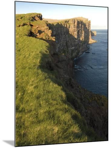 Westernmost Point in Europe, the Famous Rock Cliffs of Latrabjarg, Iceland, Polar Regions-Michael Runkel-Mounted Photographic Print