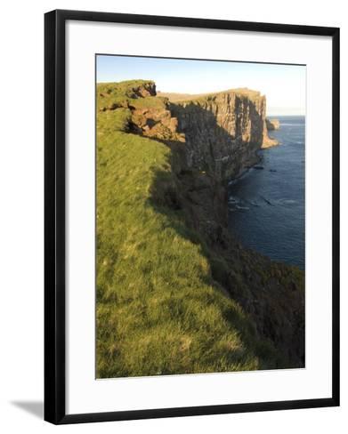 Westernmost Point in Europe, the Famous Rock Cliffs of Latrabjarg, Iceland, Polar Regions-Michael Runkel-Framed Art Print