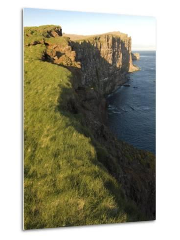 Westernmost Point in Europe, the Famous Rock Cliffs of Latrabjarg, Iceland, Polar Regions-Michael Runkel-Metal Print