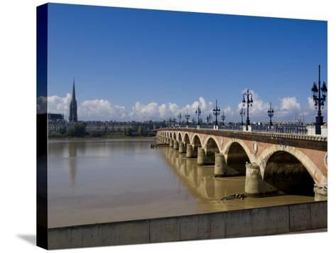 Pont De Pierre, Bordeaux, Gironde, Aquitaine, France, Europe-Charles Bowman-Stretched Canvas Print