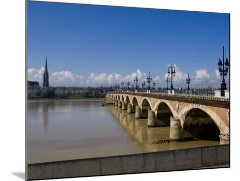 Pont De Pierre, Bordeaux, Gironde, Aquitaine, France, Europe-Charles Bowman-Mounted Photographic Print