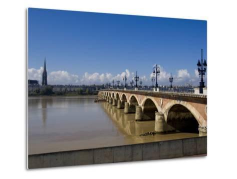 Pont De Pierre, Bordeaux, Gironde, Aquitaine, France, Europe-Charles Bowman-Metal Print
