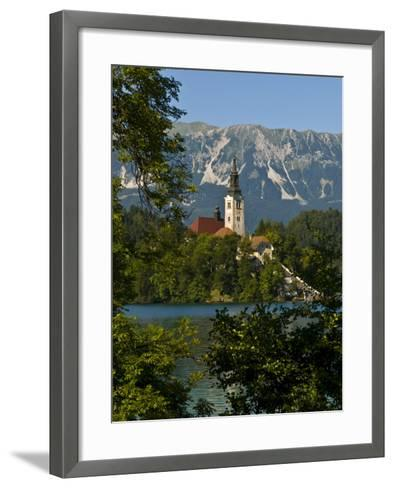 Church of the Assumption on Bled Island in Bled Lake, Bled, Slovenia, Europe-Michael Runkel-Framed Art Print
