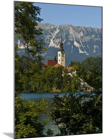 Church of the Assumption on Bled Island in Bled Lake, Bled, Slovenia, Europe-Michael Runkel-Mounted Photographic Print