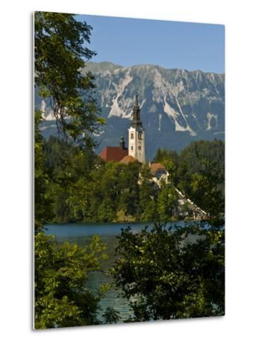 Church of the Assumption on Bled Island in Bled Lake, Bled, Slovenia, Europe-Michael Runkel-Metal Print