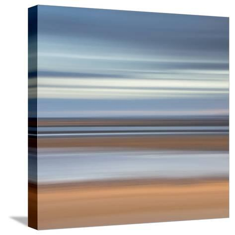 Abstract Image of the View from Alnmouth Beach to the North Sea, Alnmouth, England, UK-Lee Frost-Stretched Canvas Print