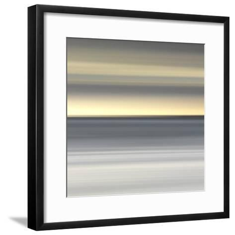 Abstract Image of the View from Alnmouth Beach to the North Sea, Alnmouth, England, UK-Lee Frost-Framed Art Print