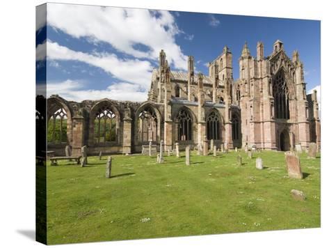 Melrose Abbey, Melrose, Borders, Scotland, United Kingdom, Europe-Richard Maschmeyer-Stretched Canvas Print