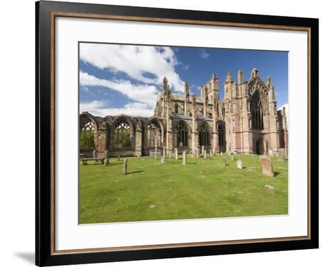 Melrose Abbey, Melrose, Borders, Scotland, United Kingdom, Europe-Richard Maschmeyer-Framed Art Print