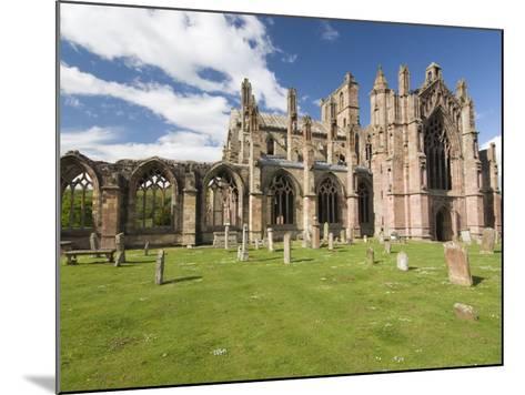 Melrose Abbey, Melrose, Borders, Scotland, United Kingdom, Europe-Richard Maschmeyer-Mounted Photographic Print