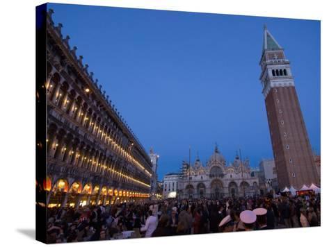 San Marco Square During Carnival, Venice, UNESCO World Heritage Site, Veneto, Italy, Europe-Carlo Morucchio-Stretched Canvas Print