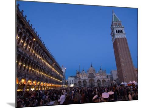 San Marco Square During Carnival, Venice, UNESCO World Heritage Site, Veneto, Italy, Europe-Carlo Morucchio-Mounted Photographic Print