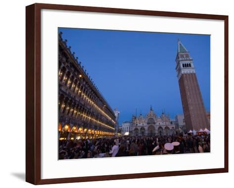 San Marco Square During Carnival, Venice, UNESCO World Heritage Site, Veneto, Italy, Europe-Carlo Morucchio-Framed Art Print
