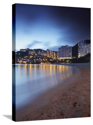 Repulse Bay Beach at Dusk, Hong Kong Island, Hong Kong, China, Asia-Ian Trower-Stretched Canvas Print