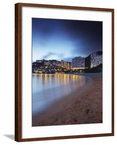Repulse Bay Beach at Dusk, Hong Kong Island, Hong Kong, China, Asia-Ian Trower-Framed Art Print