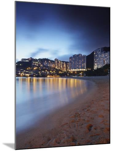 Repulse Bay Beach at Dusk, Hong Kong Island, Hong Kong, China, Asia-Ian Trower-Mounted Photographic Print
