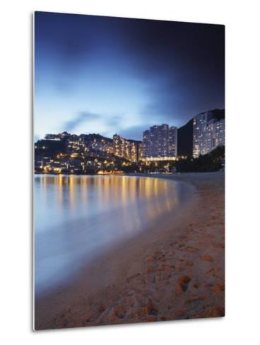 Repulse Bay Beach at Dusk, Hong Kong Island, Hong Kong, China, Asia-Ian Trower-Metal Print