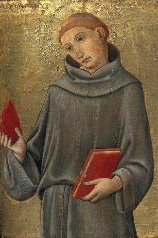Saint Anthony of Padua-Sano di Pietro-Stretched Canvas Print