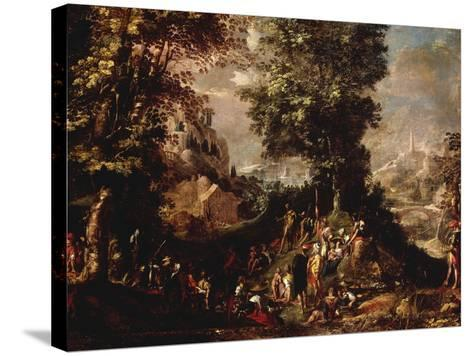 St John the Baptist Preaching to the Multitude-Abraham Bloemaert-Stretched Canvas Print